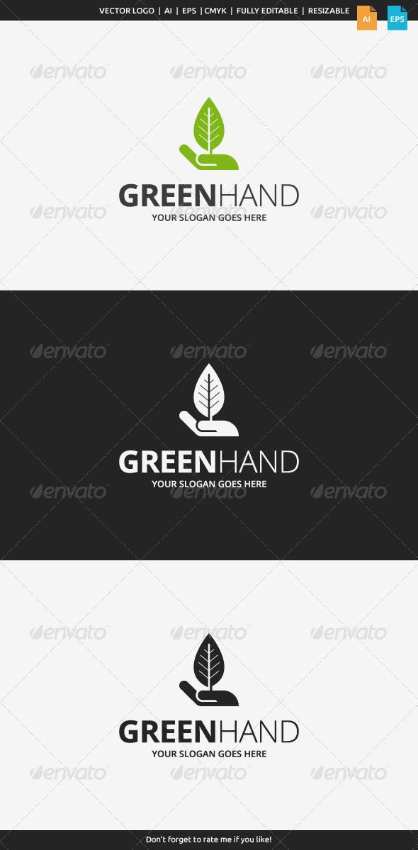 GraphicRiver Green Hand Logo 8112881