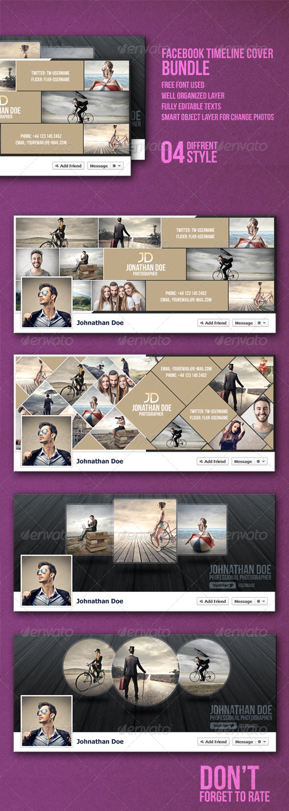 GraphicRiver Facebook Timeline Cover Bundle 8112943