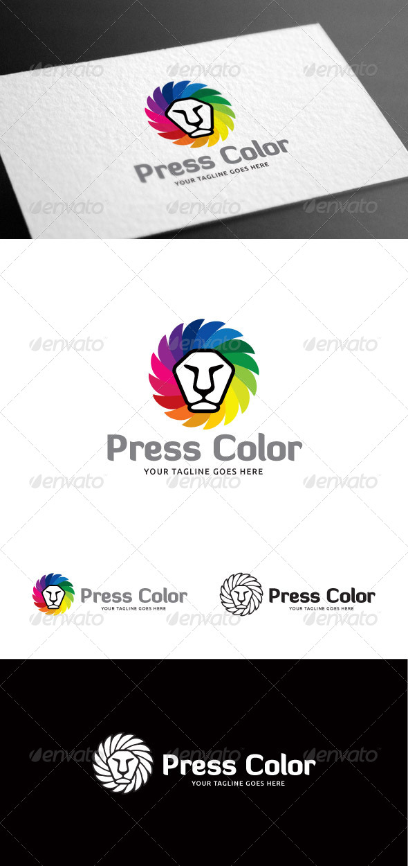 GraphicRiver Press Color Logo Template 8099696