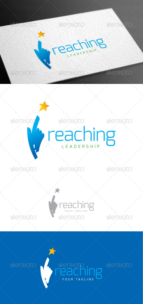 GraphicRiver Reaching Logo Template 8113534
