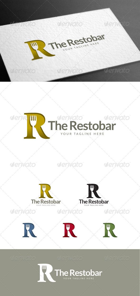 GraphicRiver Restobar R Letter Logo Template 8113546