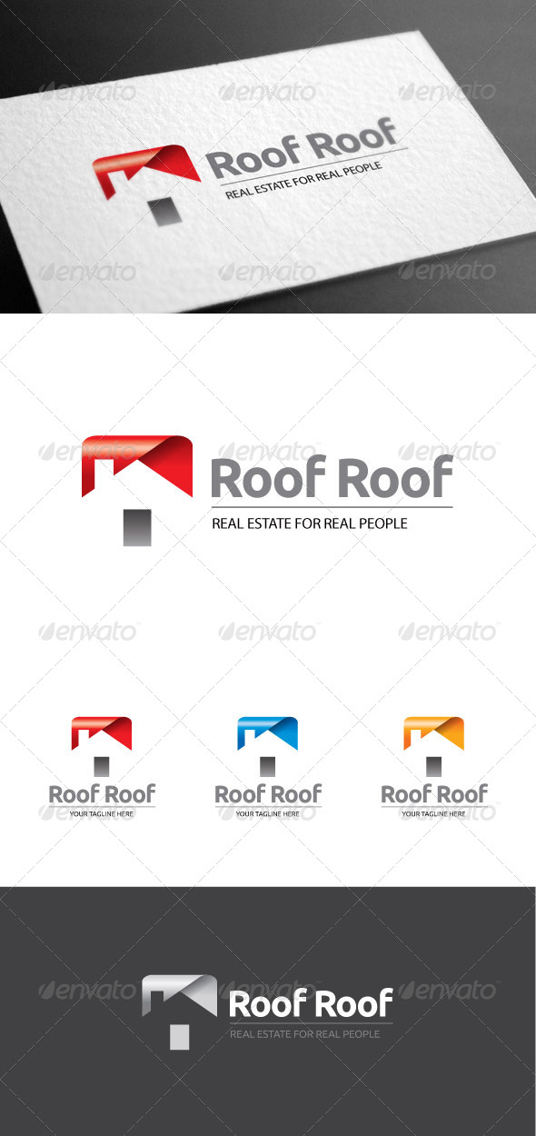 GraphicRiver Roofroof Real Estate Logo 8113579
