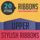 20 Ribbons Easy to Edit in Shape Layers - GraphicRiver Item for Sale