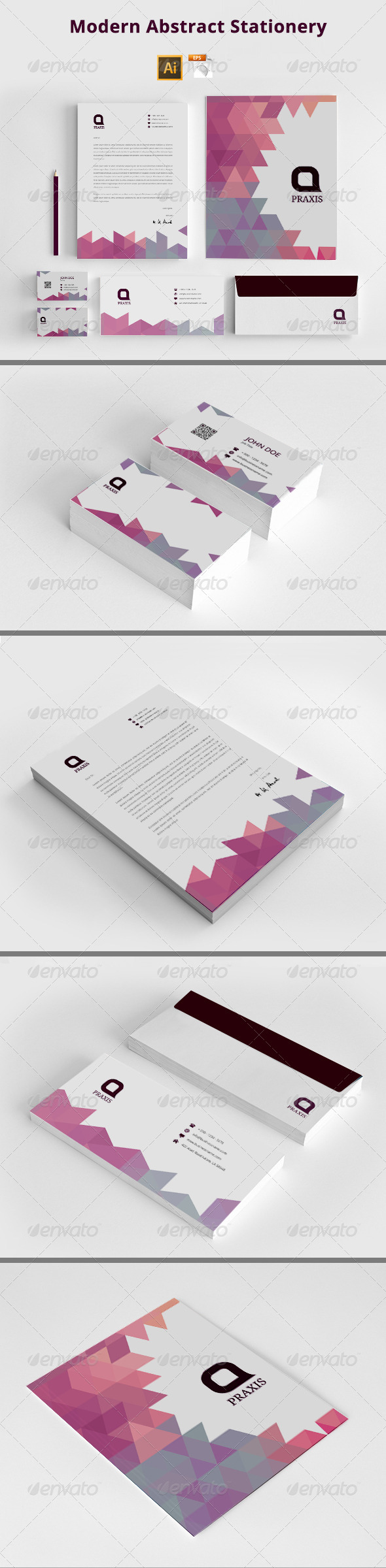 GraphicRiver Modern Abstract Stationery 8113596