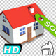 Real Estate House, Cartoon Style - VideoHive Item for Sale