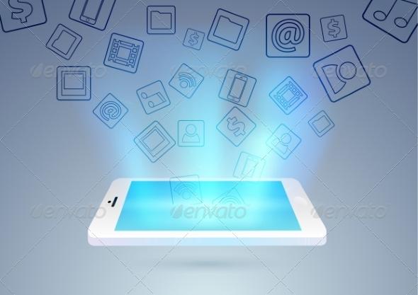 GraphicRiver Social Media Through Mobile Phone 8113622