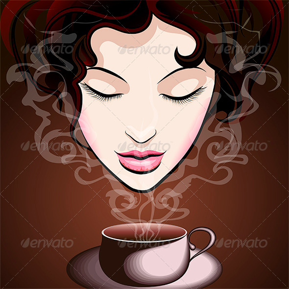 GraphicRiver Woman Enjoying Coffee 8113827