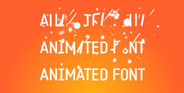 Animated Font
