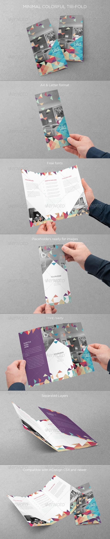 GraphicRiver Minimal Colorful Trifold 8113889