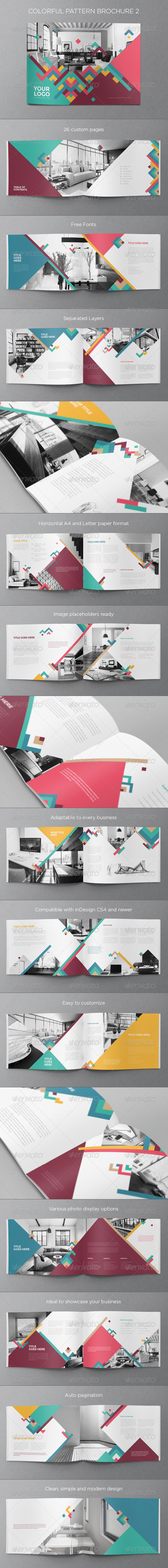 GraphicRiver Colorful Pattern Brochure 2 8113993