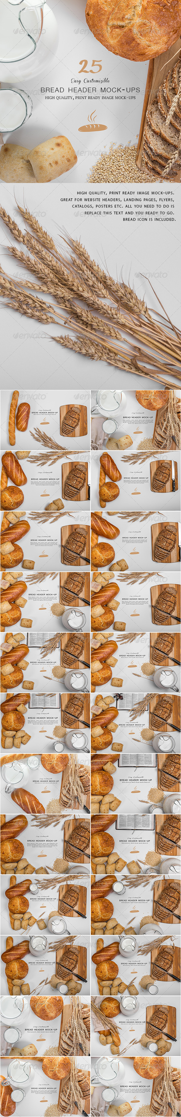 GraphicRiver Bread Header Mock-ups 8114040