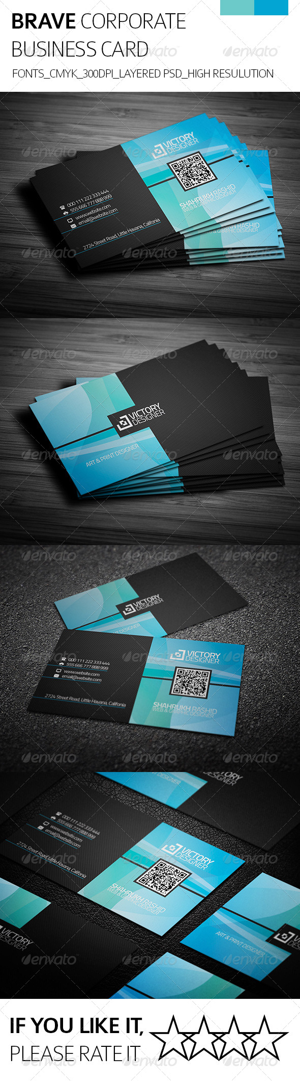 GraphicRiver Brave & Corporate Business Card 8112672