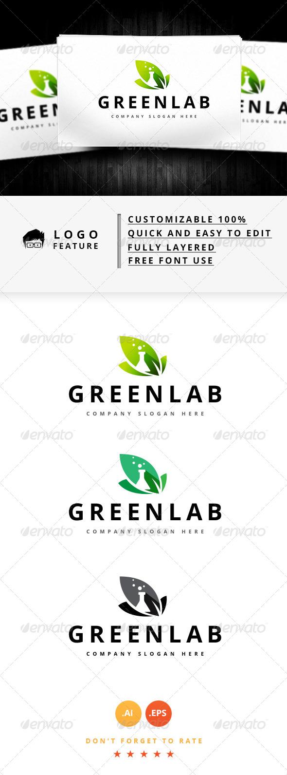 GraphicRiver Green Lab Logo 8111667