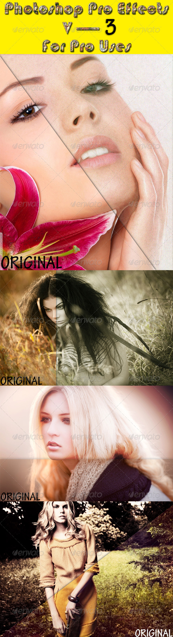 GraphicRiver Photoshop Pro Effects V3 8114437