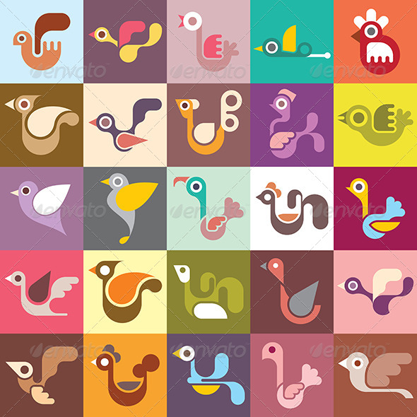 GraphicRiver Birds Vector Wallpaper 8114484