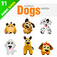 12 Cartoon Dogs - GraphicRiver Item for Sale