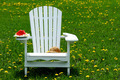 Slice of watermelon on adirondack chair - PhotoDune Item for Sale