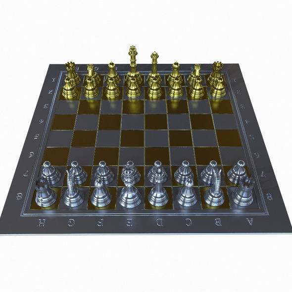 Chess Gold-Silver - 3DOcean Item for Sale