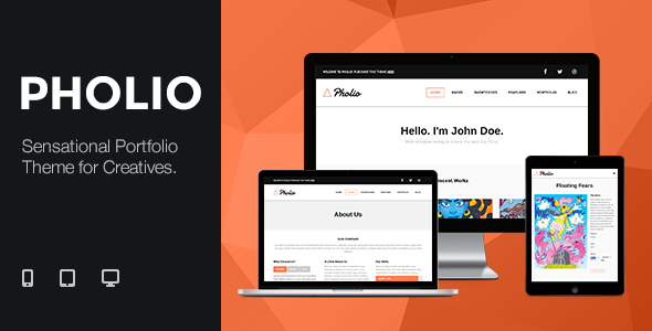 Premium Templates - Pholio - Sensational Portfolio Theme For Creative