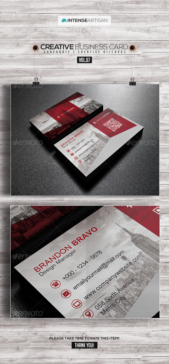 GraphicRiver IntenseArtisan Business Card Vol.67 8115702