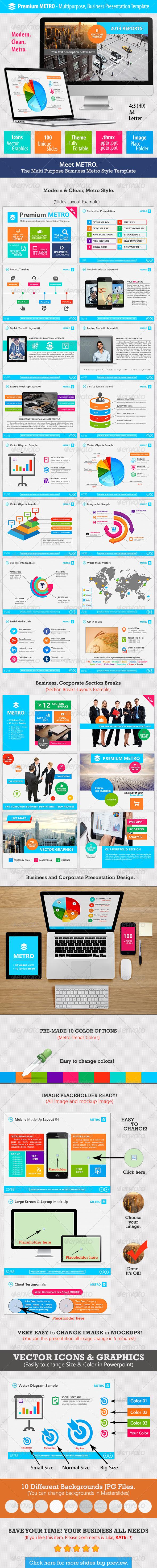 GraphicRiver Premium METRO Multipurpose Business Template 8108187