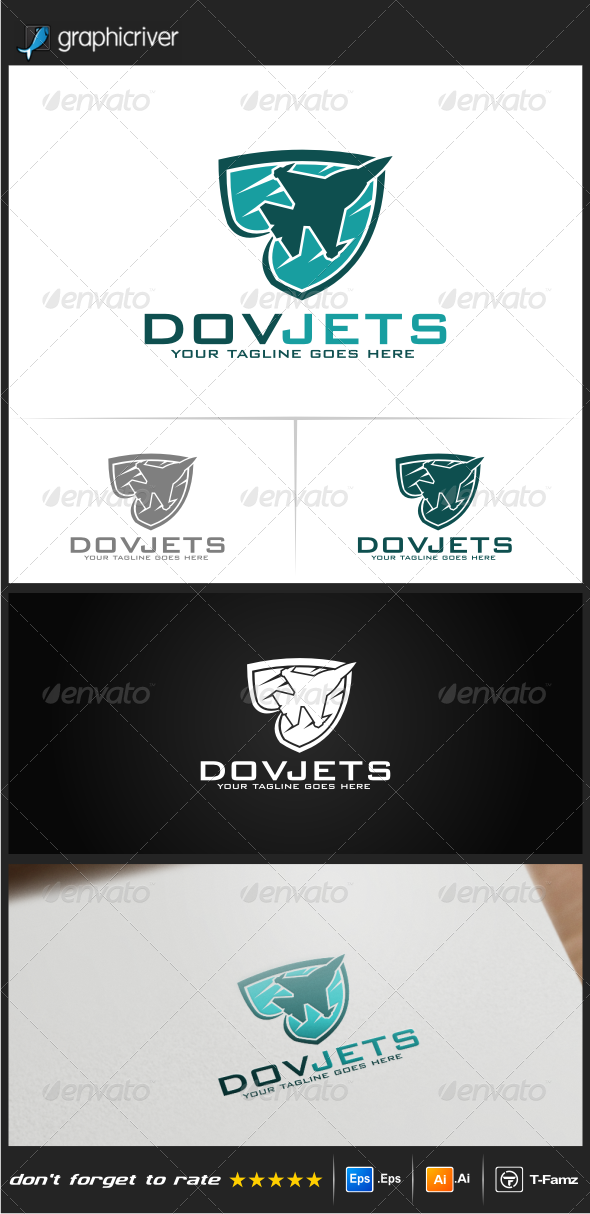 GraphicRiver Dovjets Logo Templates 4523096