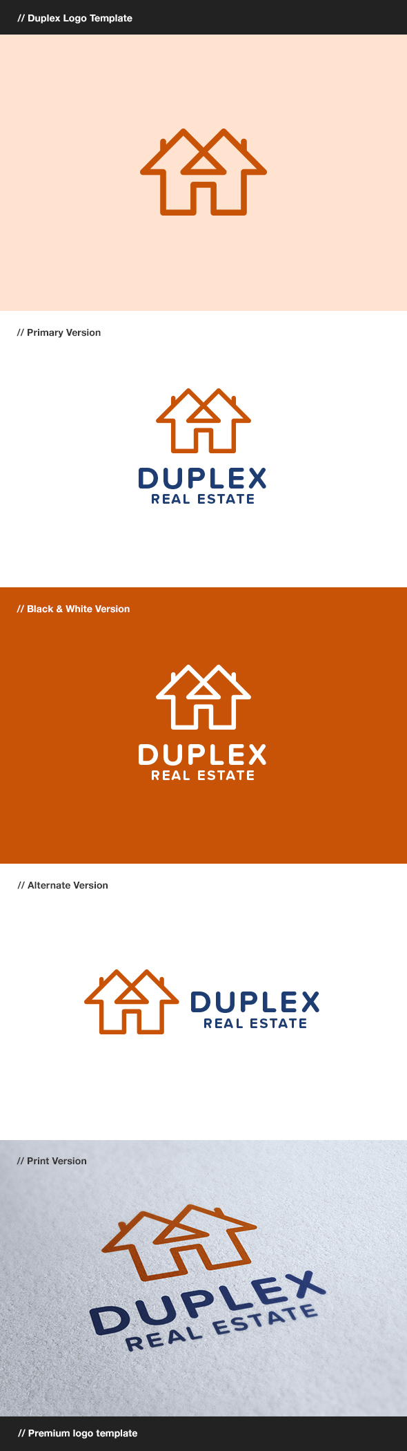 GraphicRiver Duplex Construction & Real Estate Logo 8116717