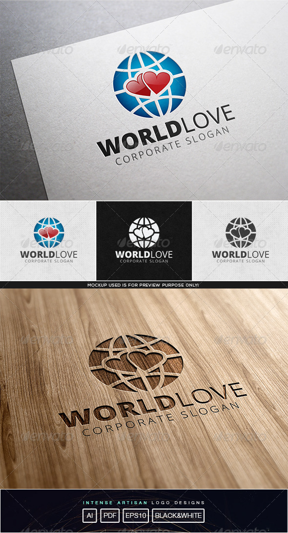 GraphicRiver World Love Logo Template 8116732