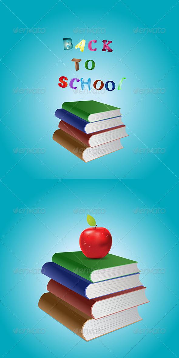 GraphicRiver Stack of Books 8116757