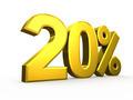 Twenty percent symbol on white background - PhotoDune Item for Sale