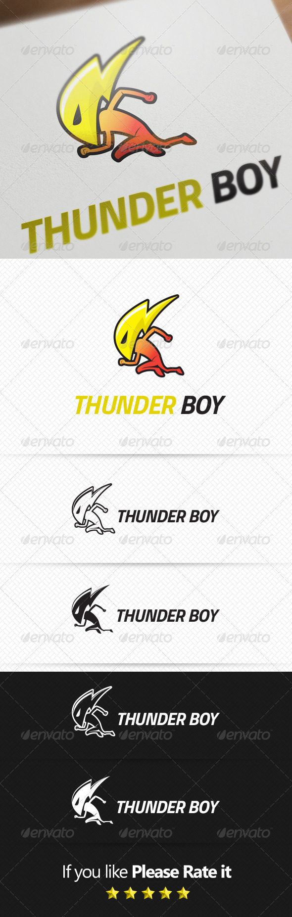 GraphicRiver Thunder Logo Template 8117183