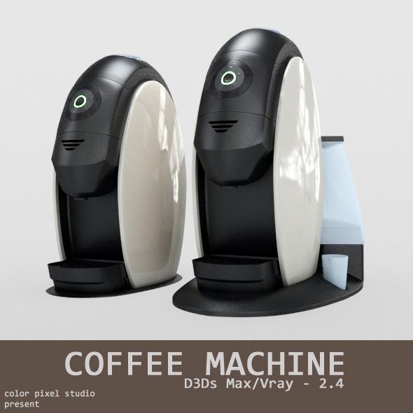 Coffee Machine - 3DOcean Item for Sale