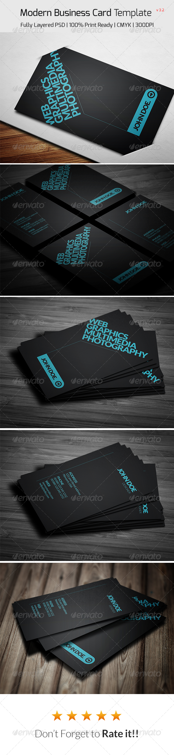 GraphicRiver Modern Business Card 8063799