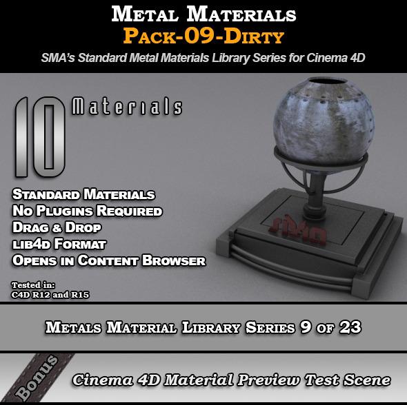 3DOcean Metals Material Pack-09-Dirty for Cinema 4D 8117562