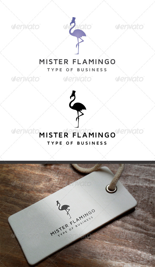 GraphicRiver Mister Flamingo Logo 8113892