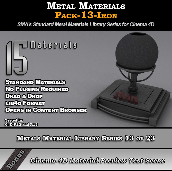 3DOcean Metals Material Pack-13-Iron for Cinema 4D 8117714