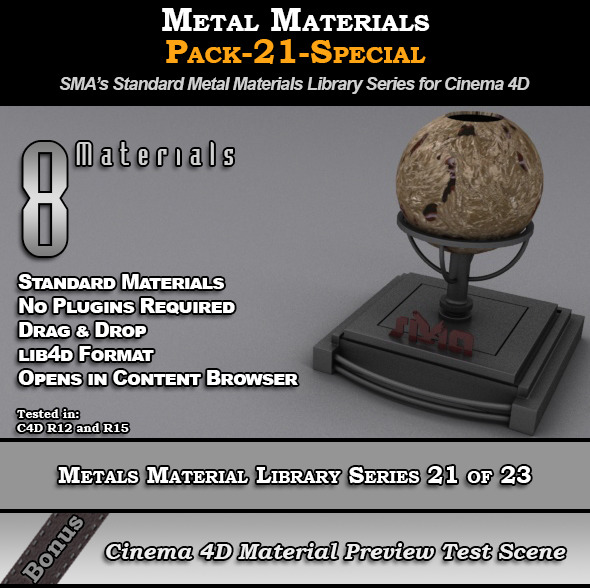 Metals Material Pack-21-Special for Cinema 4D - 3DOcean Item for Sale