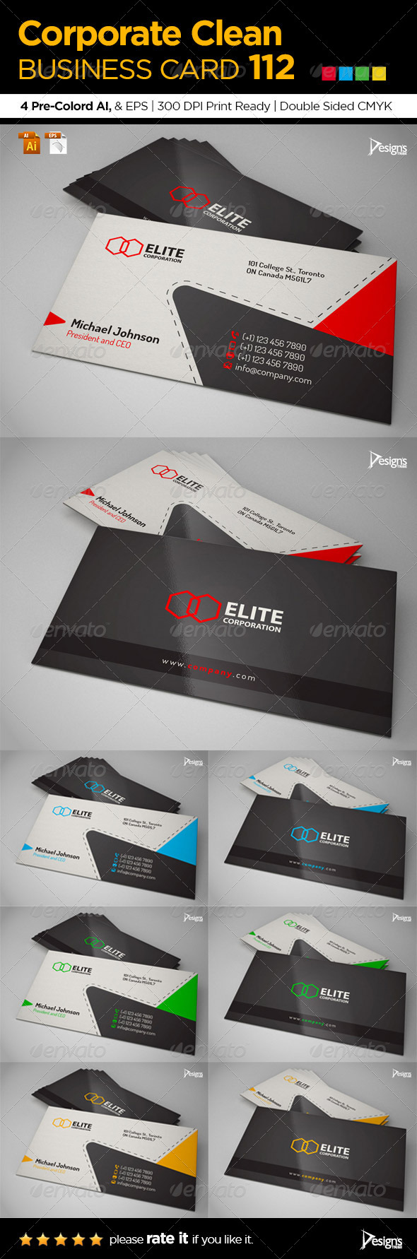GraphicRiver Simple and Clean Business Card 112 8117884