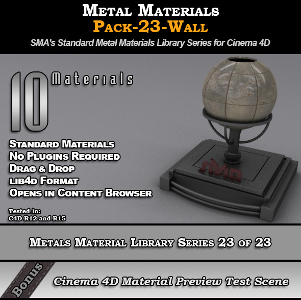 3DOcean Metals Material Pack-23-Wall for Cinema 4D 8117890