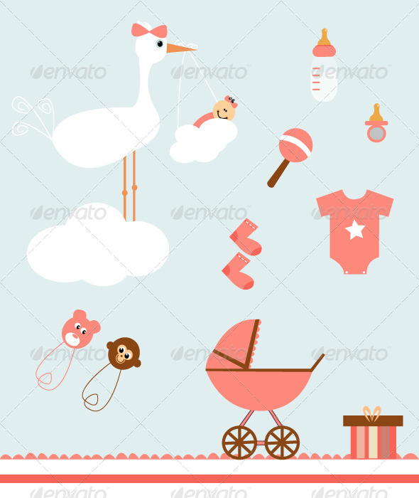 GraphicRiver Baby Set 8118018
