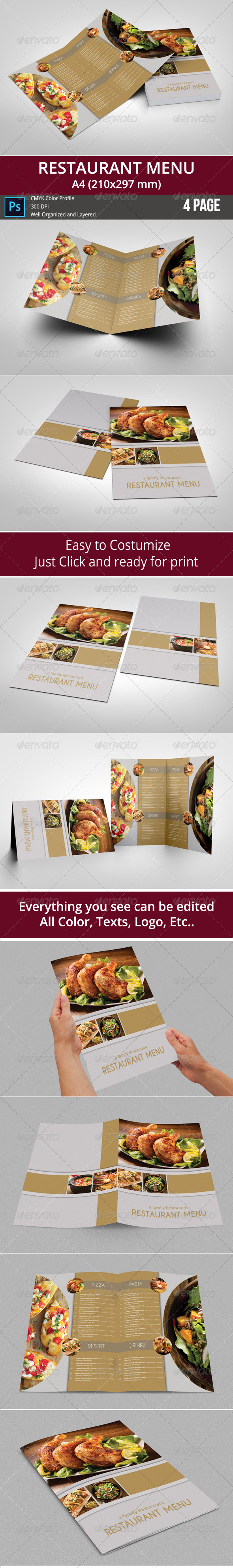 GraphicRiver Restaurant Menu 8118098