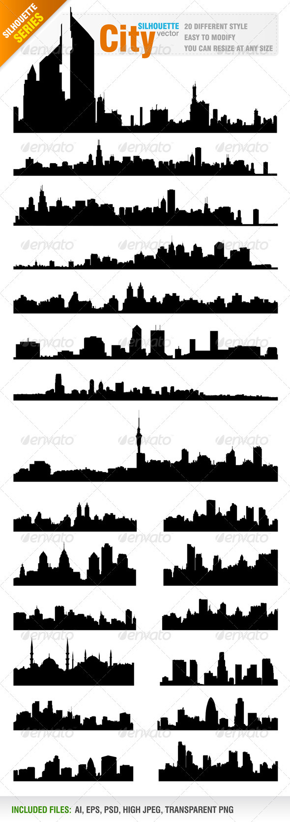 GraphicRiver Skylines Cityscapes Vector 832336
