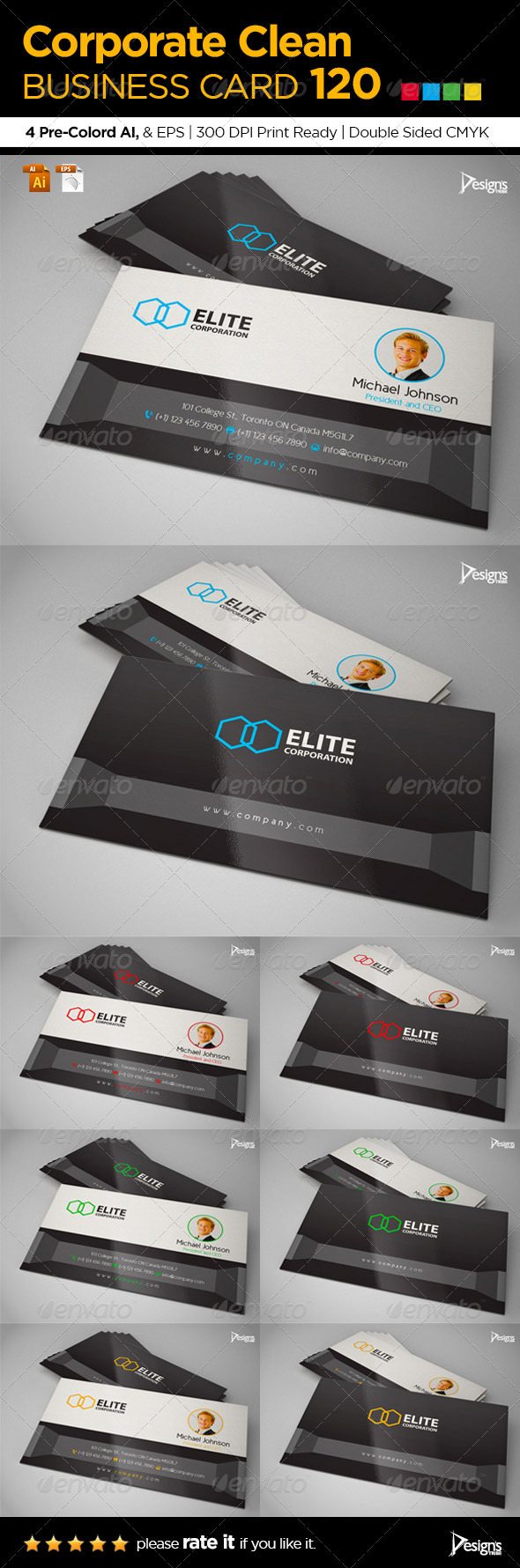 GraphicRiver Simple and Clean Business Card 120 8118135