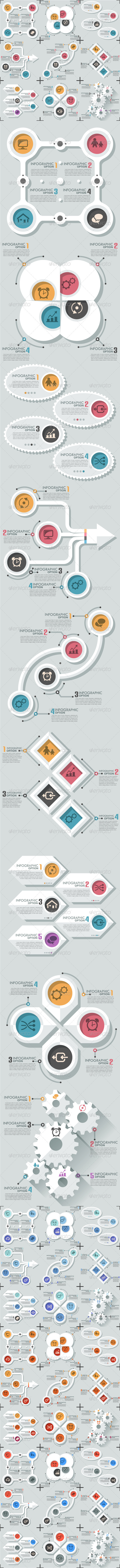 GraphicRiver Set Of 9 Flat Infographic Options Templates 8118277