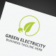 Green Electricity Logo - GraphicRiver Item for Sale