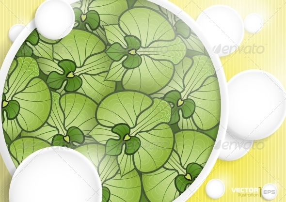 GraphicRiver Abstract Background With White Paper Circles 8118494