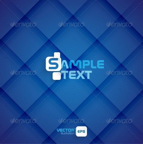 GraphicRiver Blue Square Abstract Background 8118540