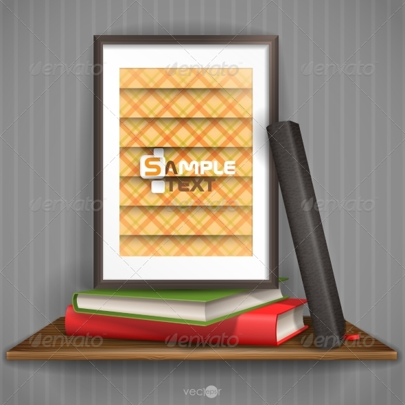 GraphicRiver Wood Shelf With Photo Frame 8118544