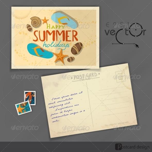GraphicRiver Old Postcard Design Template 8118600