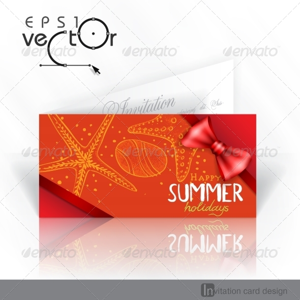 GraphicRiver Invitation Card Design Template 8118652